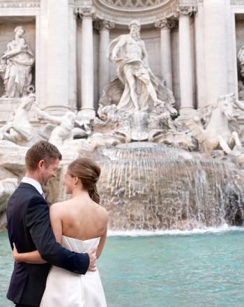 Engagement Pre Wedding Elopement Photography Session Rome Trevi Fountain Colosseum Villa Borghese ROSSINI PHOTOGRAPHY
