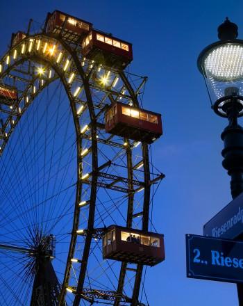 Riesenrad ferris wheel Vienna, Austria